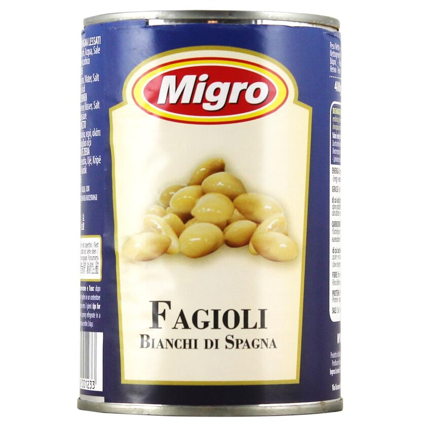Migro Fagioli Bianchi di Spagna Bohnen 240g