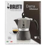 Bialetti Dama Glamour Grau Kaffeekocher für 3 Tassen 1St.