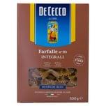 De Cecco Farfalle n°93 Integrali Vollkorn Nudeln 500g