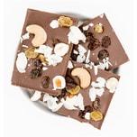 1001Frucht Glückwunsch Bio Schokolade mit Haselnüssen, Sultaninen und Kokos 90g