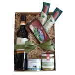 Schwäbische Vesperbox mit Rotwein und Wurst 5 teilig