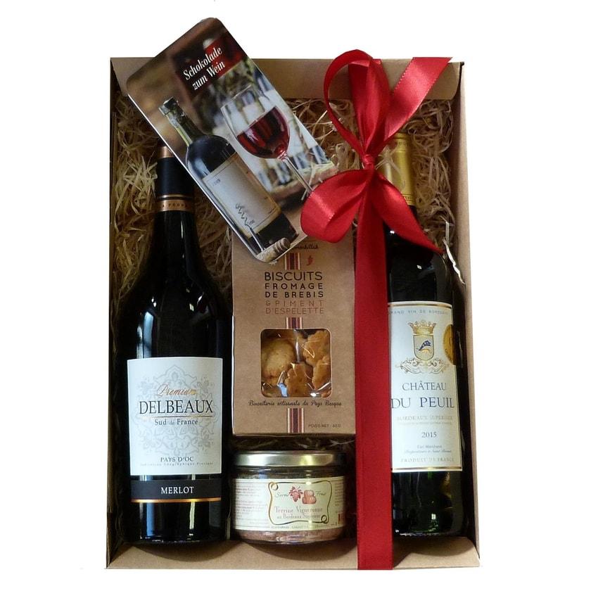 Französische Rotweinbox 5 teilig