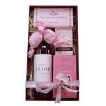 Geschenkbox Rosige Zeiten mit italienischem Roséwein und Naschwerk 5 teilig