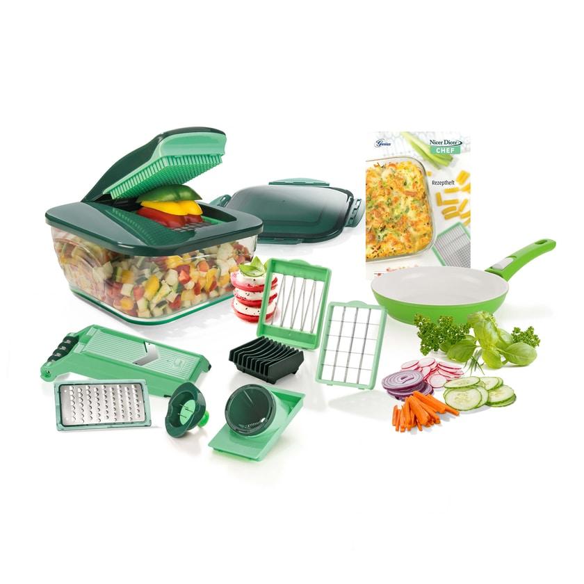 Genius Nicer Dicer Chef 16 Teile inkl. Tomaten-Gemüse-Schneider