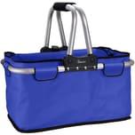 Genius Einkaufskorb 25 kg faltbar mit Reißverschluss blau
