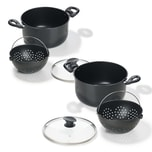 Genius World´s Greatest Pot 6 Teile Topf mit Siebeinsatz Ø 20 cm + Ø 25 cm