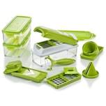 Genius Nicer Dicer Smart Julietti 16 Teile Obst- und Gemüseschneider grün