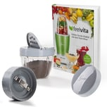 Genius Feelvita Nutri Mixer Mahl-Set 5-tlg. inkl. Rezeptbuch