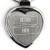 Geschenke.de Schlüsselanhänger Herz Bester Papa