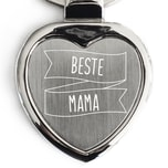 Geschenke.de Schlüsselanhänger Herz Beste Mama