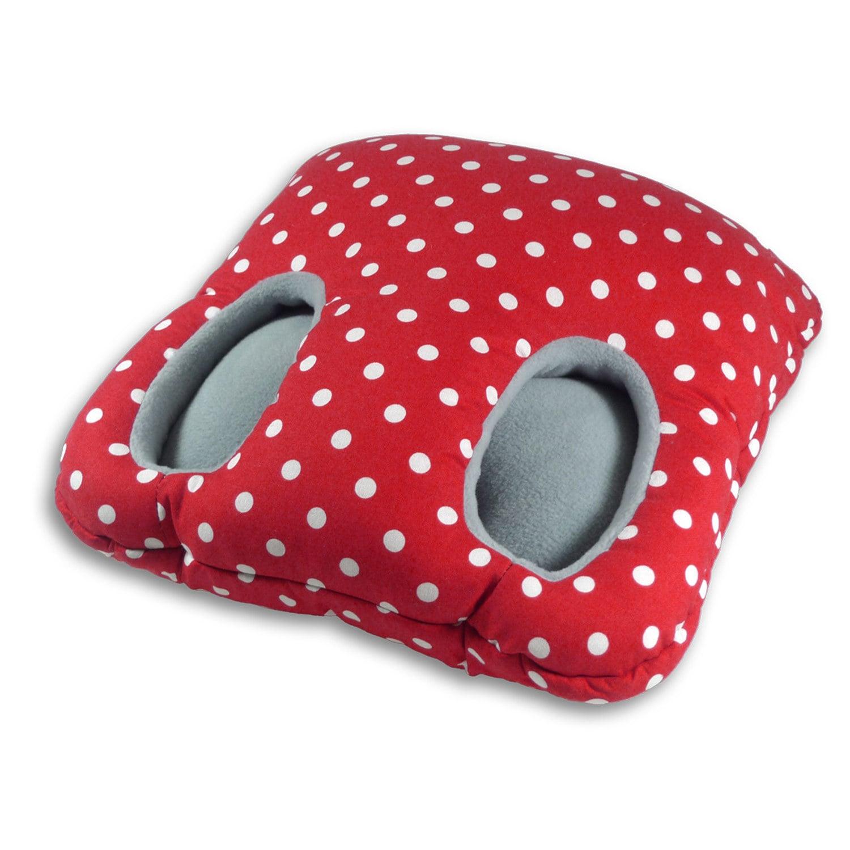 Leschi Fuß-Muff polka-dots rot