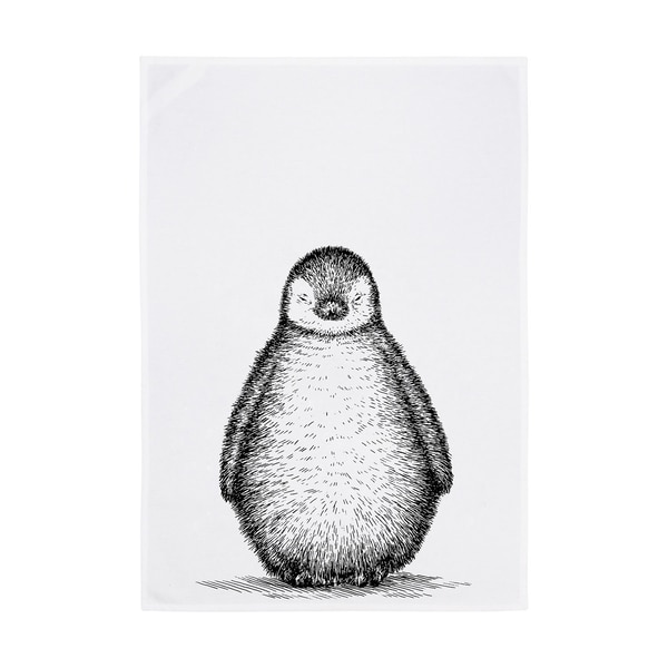 17;30 Geschirrtuch Pinguin weiß/dunkelgrau