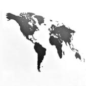 Channel Distribution Puzzle Weltkarte aus Holz 100x60cm schwarz