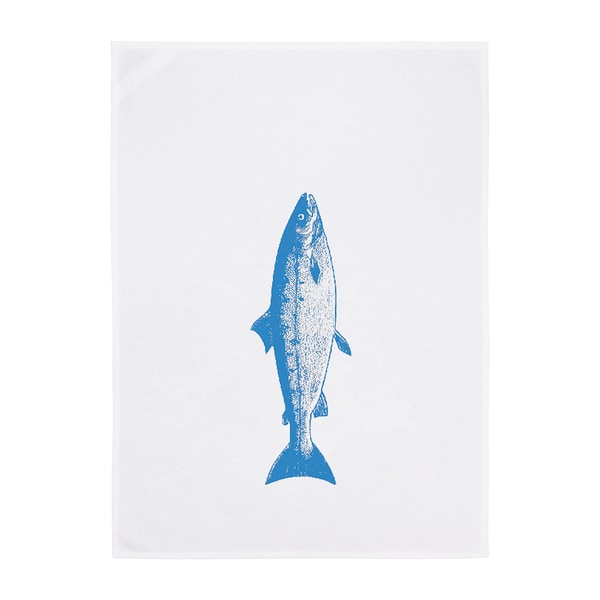 17;30 Geschirrtuch Vintage Lachs weiß/neon blau