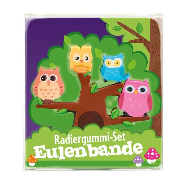 moses. Verlag Radiergummi-Set Eulenbande