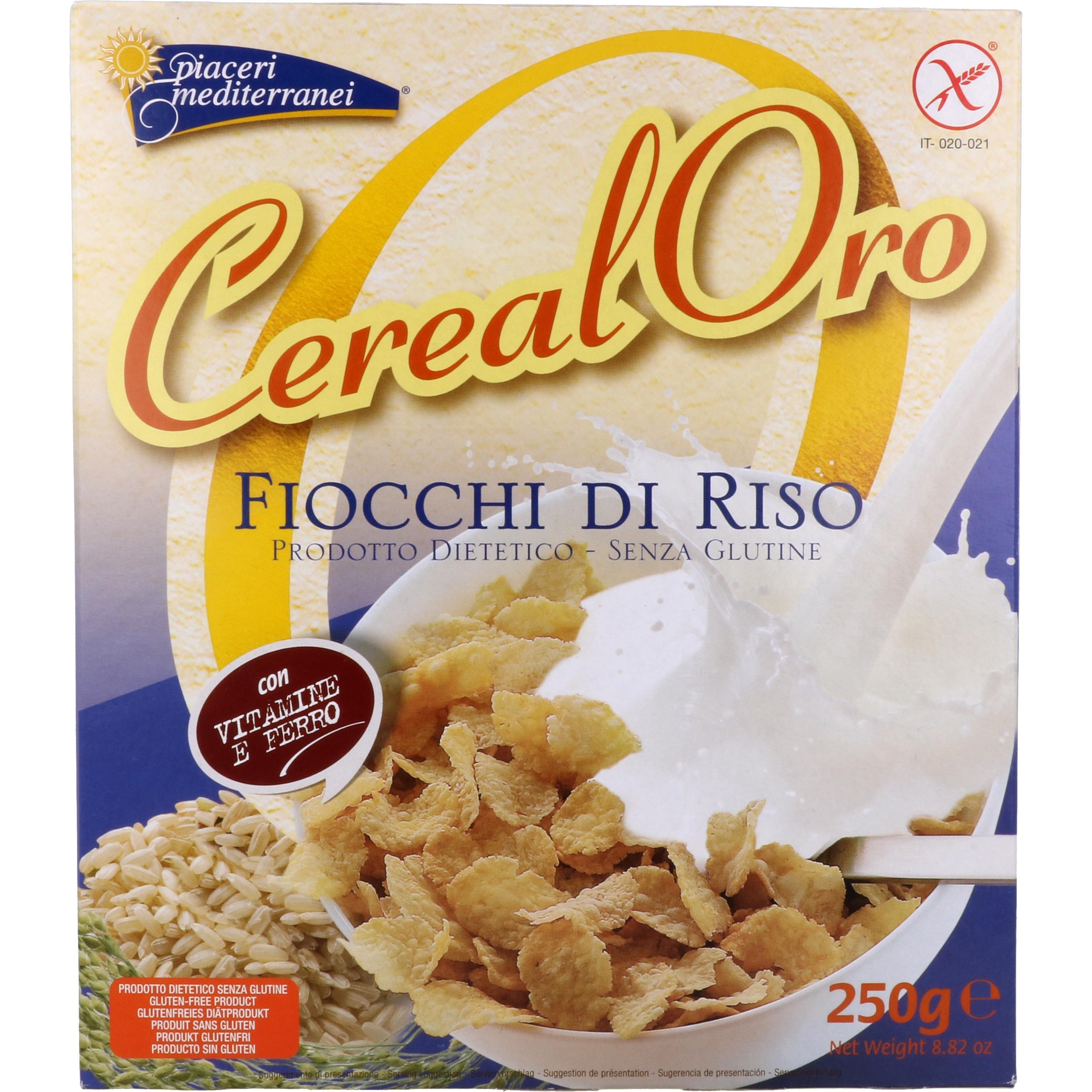 Piaceri Mediterranei Cereal Oro Fiocchi di Riso Cornflakes 250g
