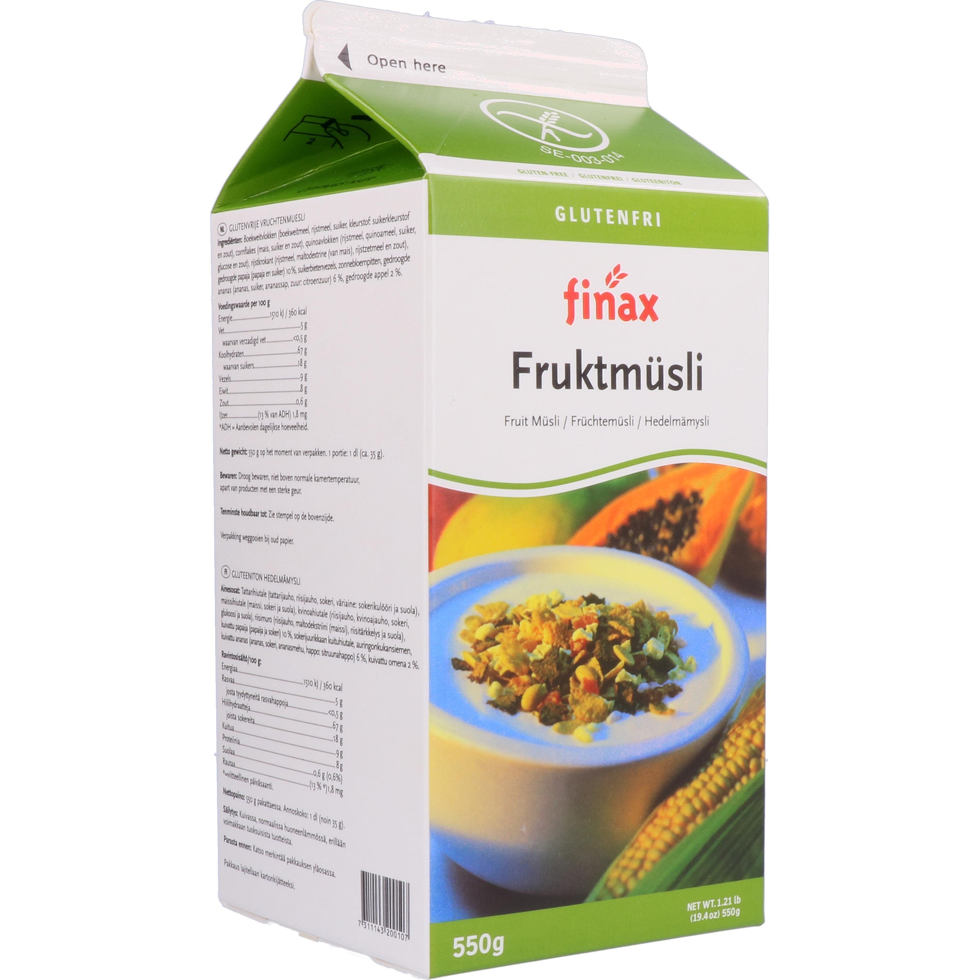 Finax Fruktmüsli - Früchtemüsli 550g