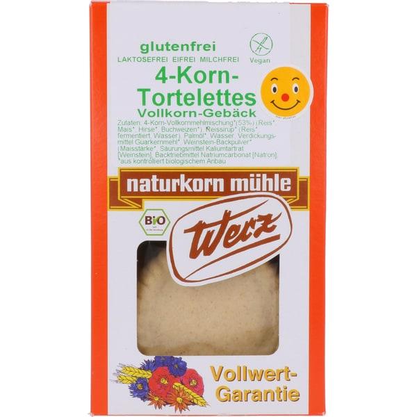 Werz Bio 4-Korn Tortelettes Vollkorn-Gebäck 125g