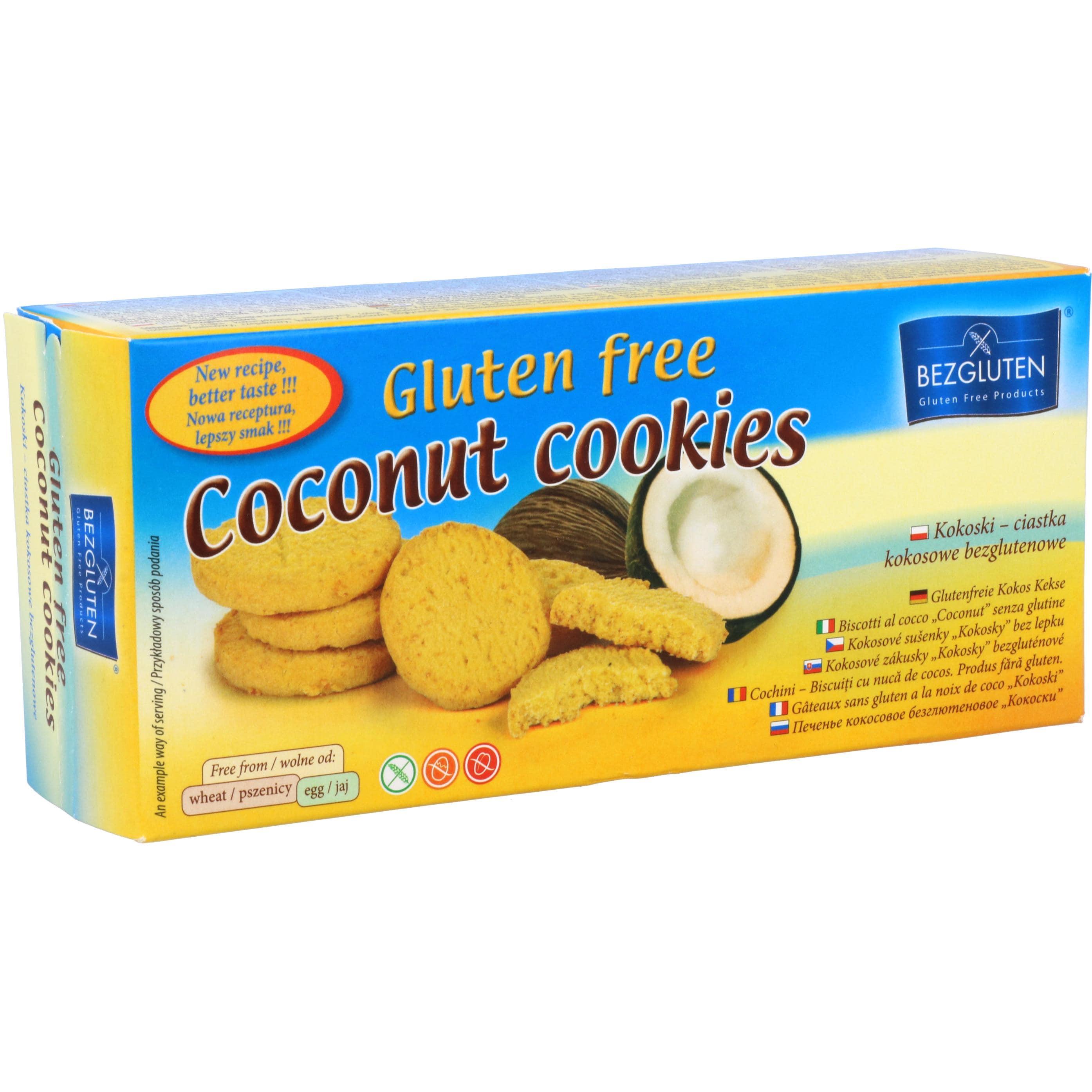Bezgluten Glutenfreie Kokoskekse Coconut cookies 130g