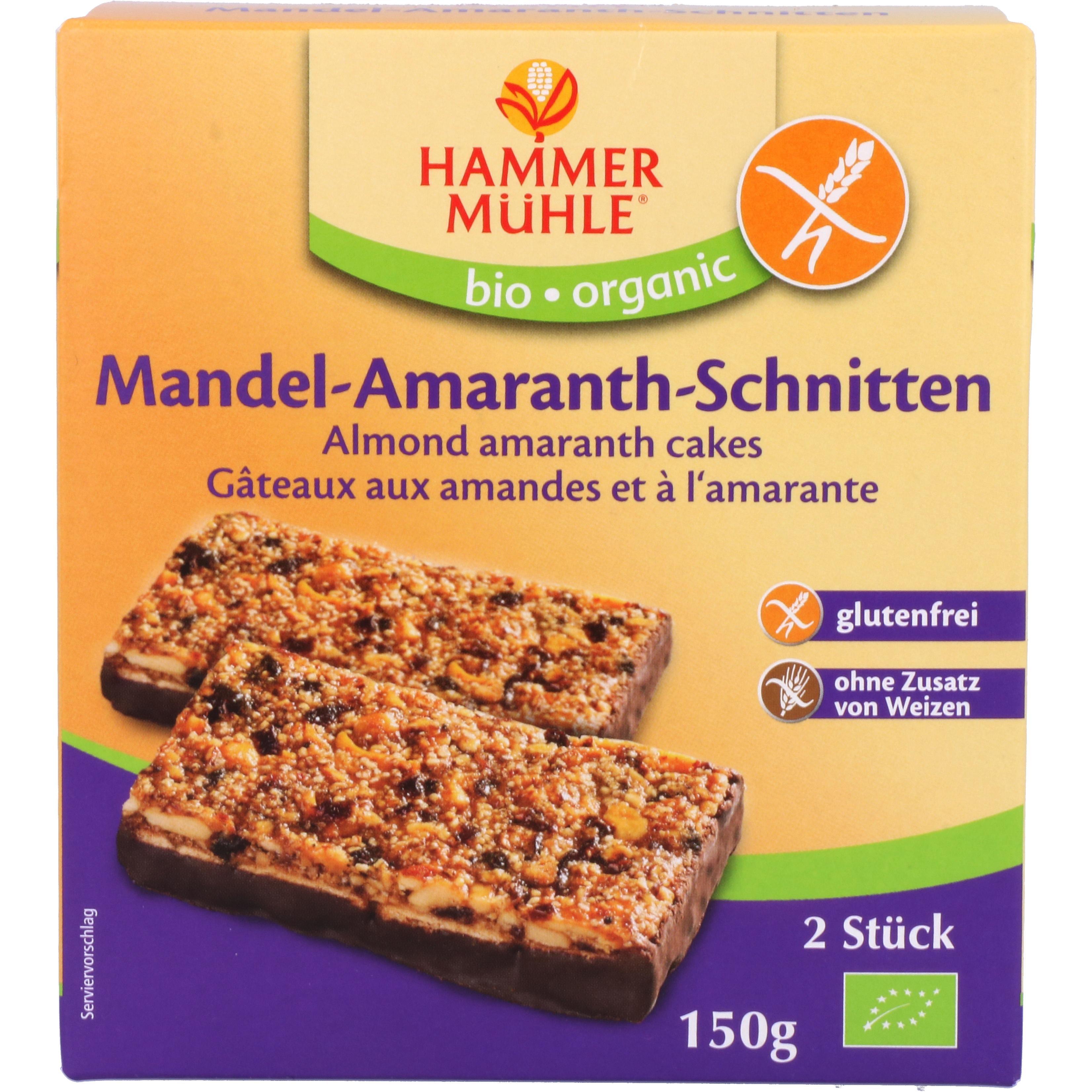 Hammermühle Organic Mandel-Amaranth-Schnitten 150g