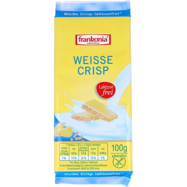 Frankonia Weiße Crisp laktosefreie Schokolade 100g