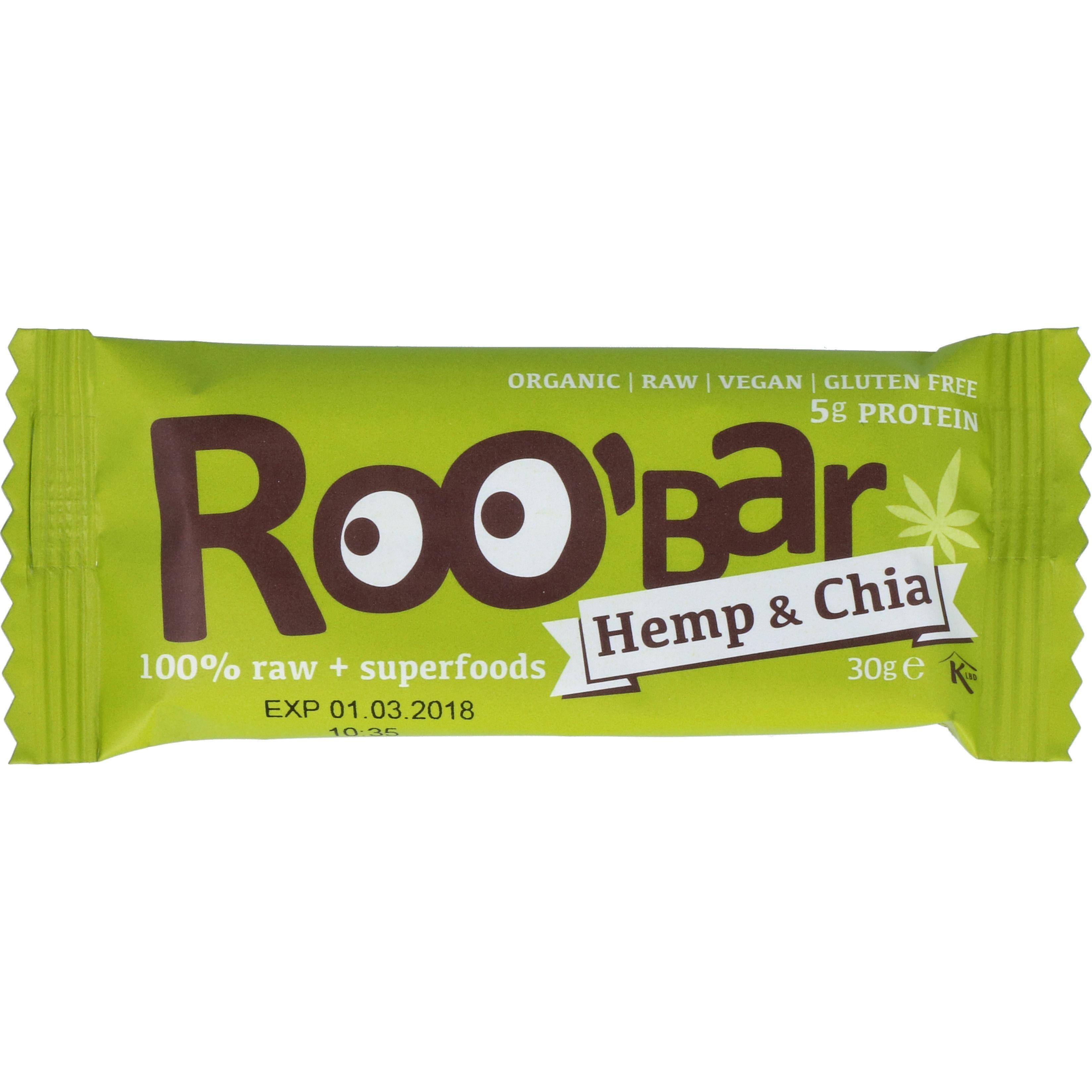 Organic Friends & Sports Gmb Roobar - Bio Hanf-Protein & Chia 30g