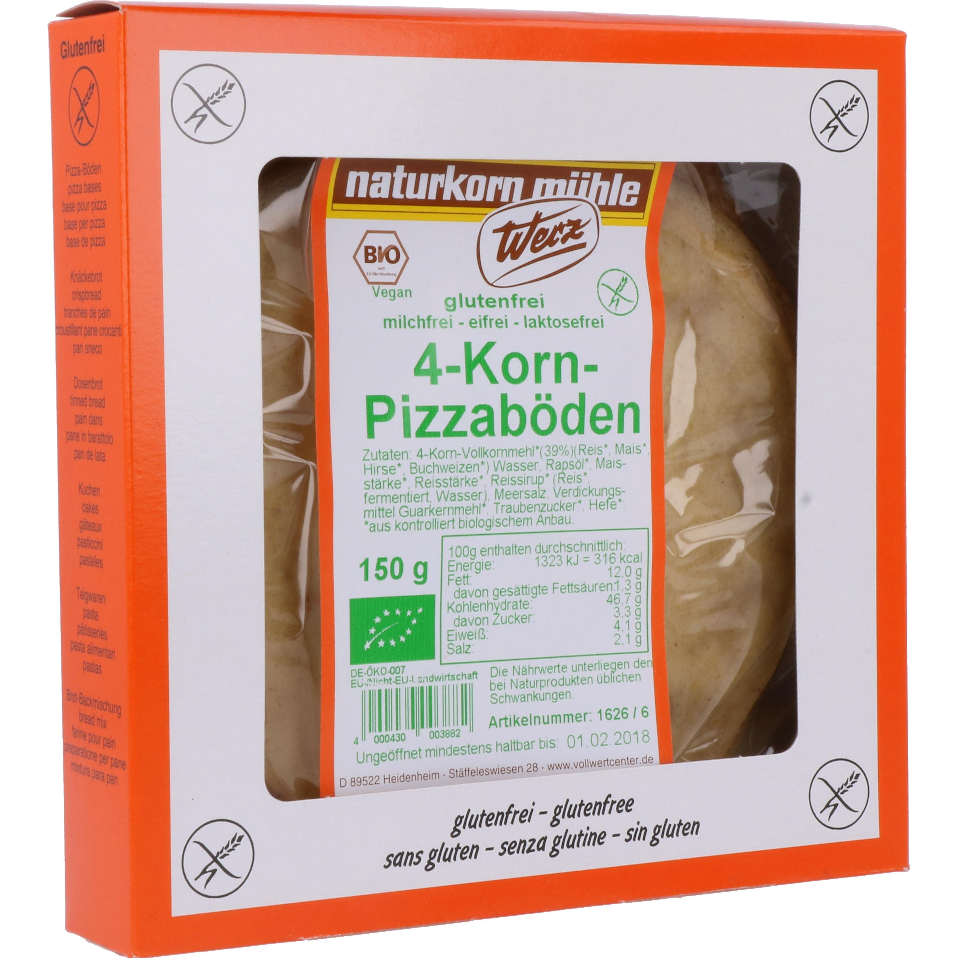 Werz Bio 4-Korn-Pizzaboden 150g