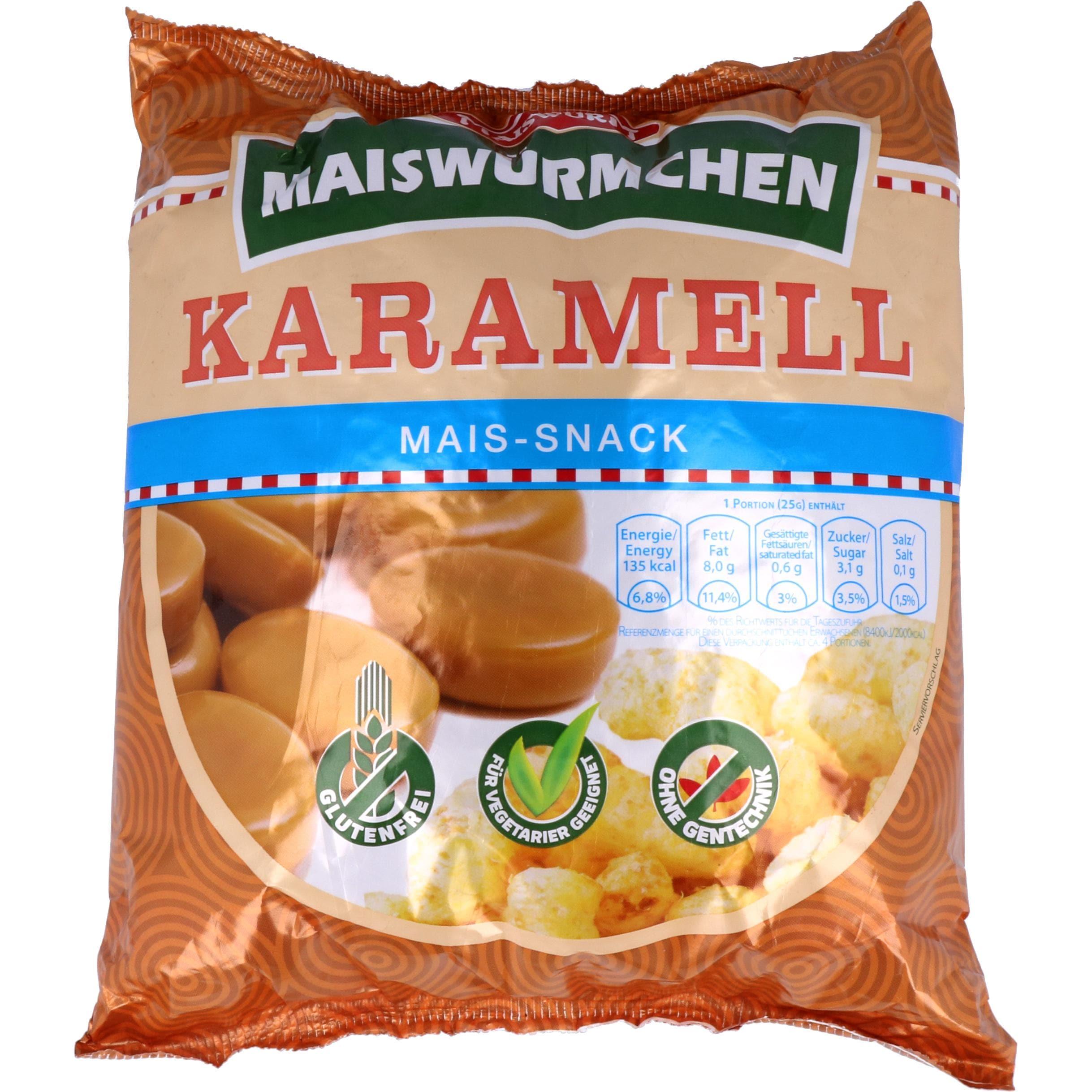 Maiswurm Maiswürmchen Karamell 90g