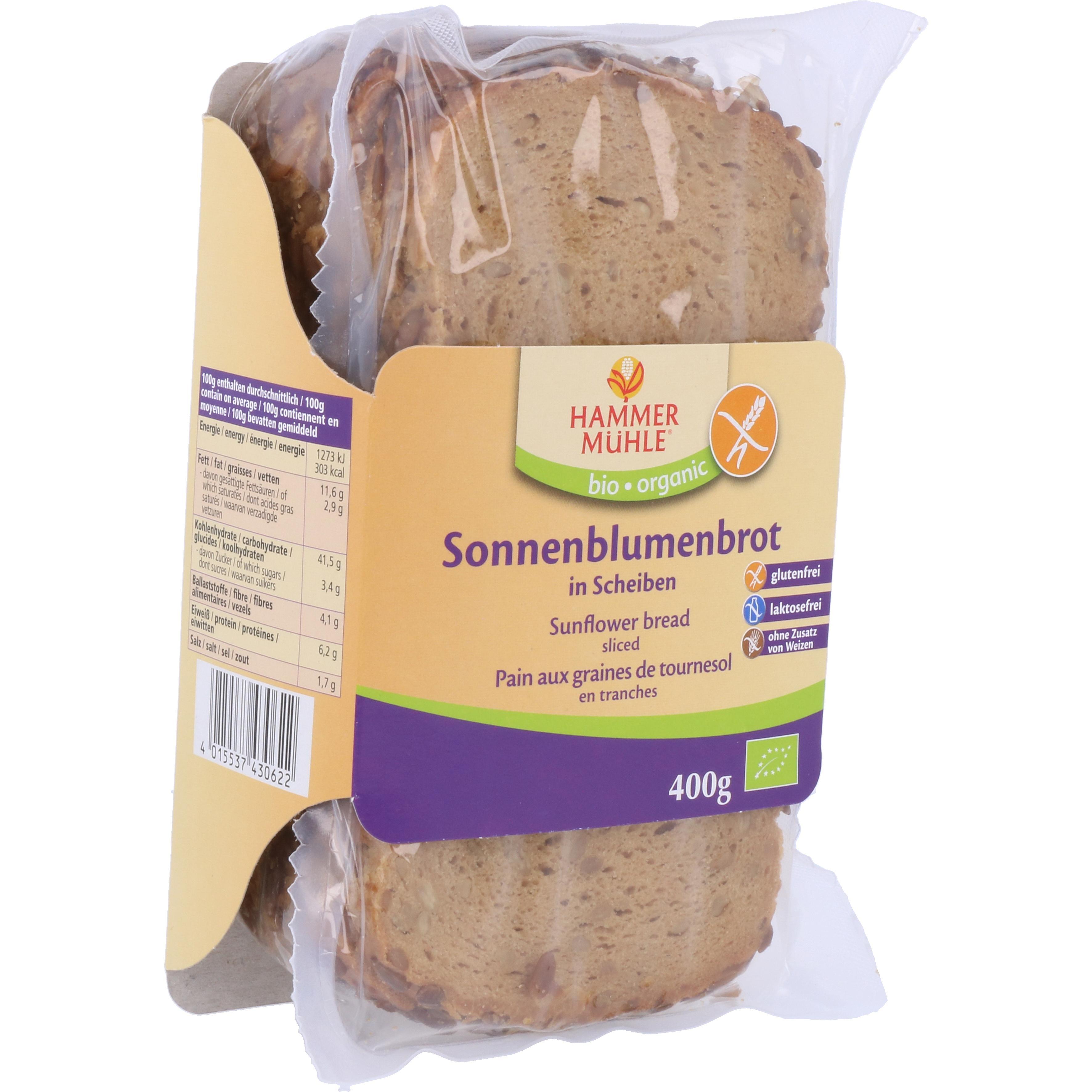 Hammermühle Organic Bio Sonnenblumenbrot in Scheiben 400g