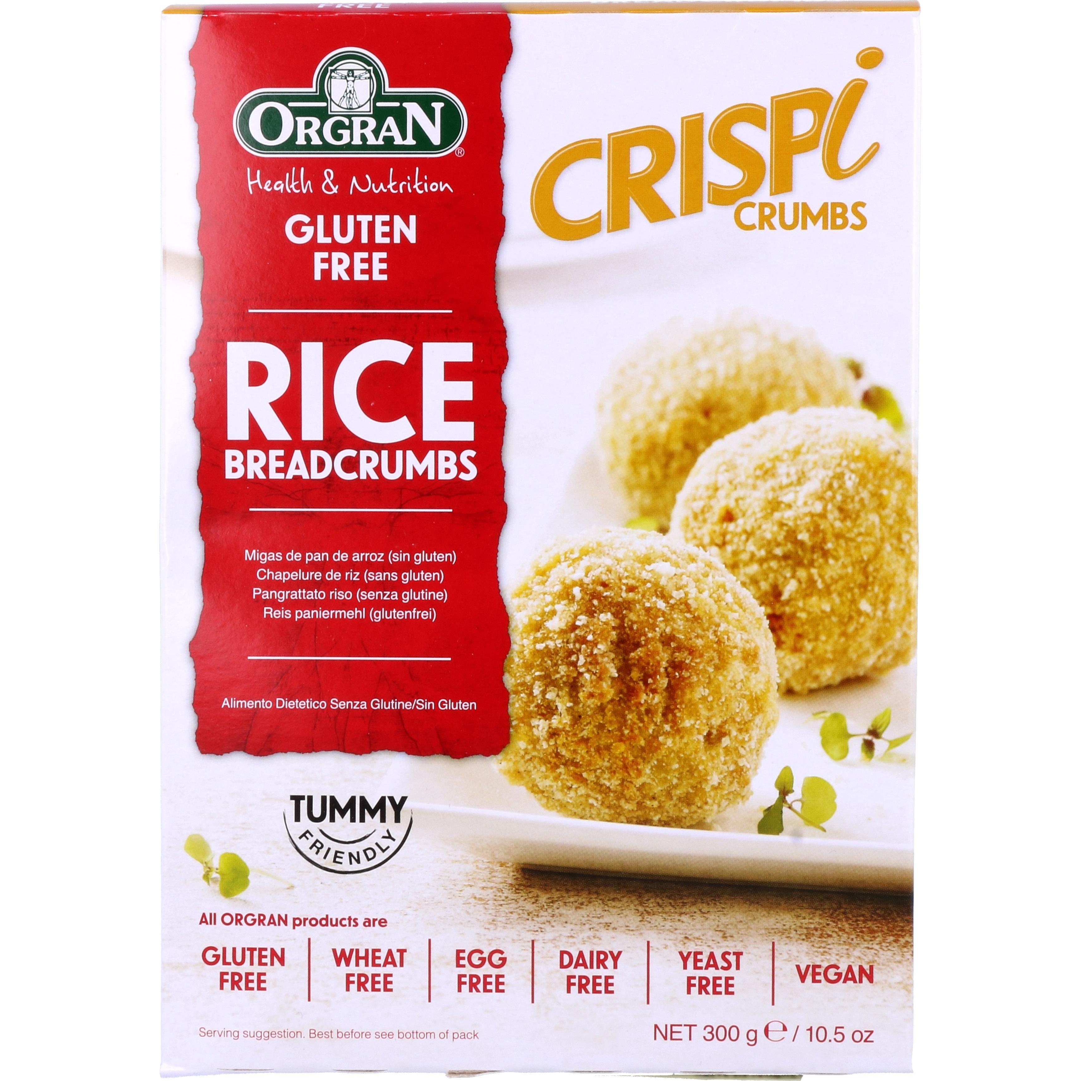 Orgran Rice Breadcrumbs Paniermehl 300g