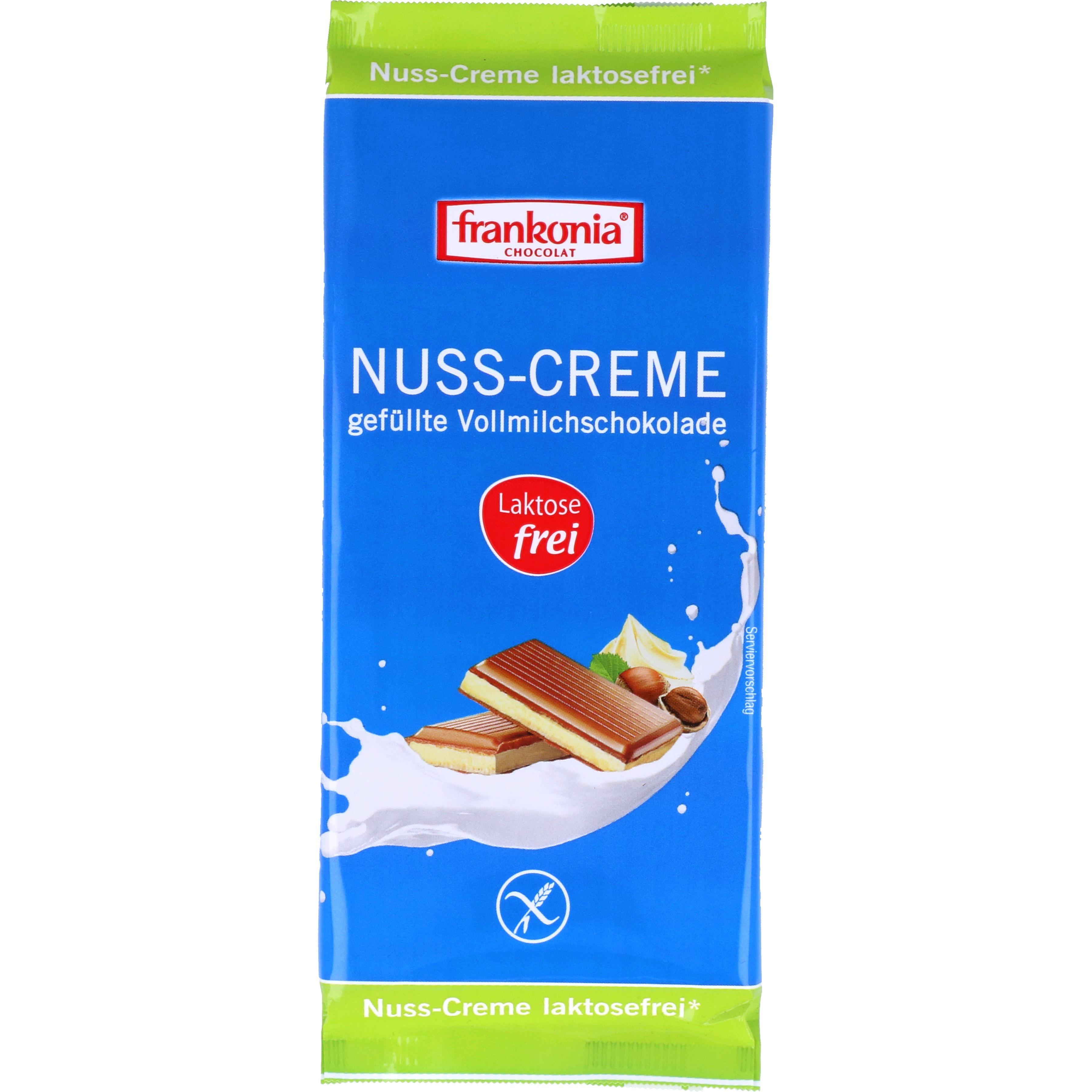 Frankonia Nuss-Creme laktosefreie Schokolade 100g