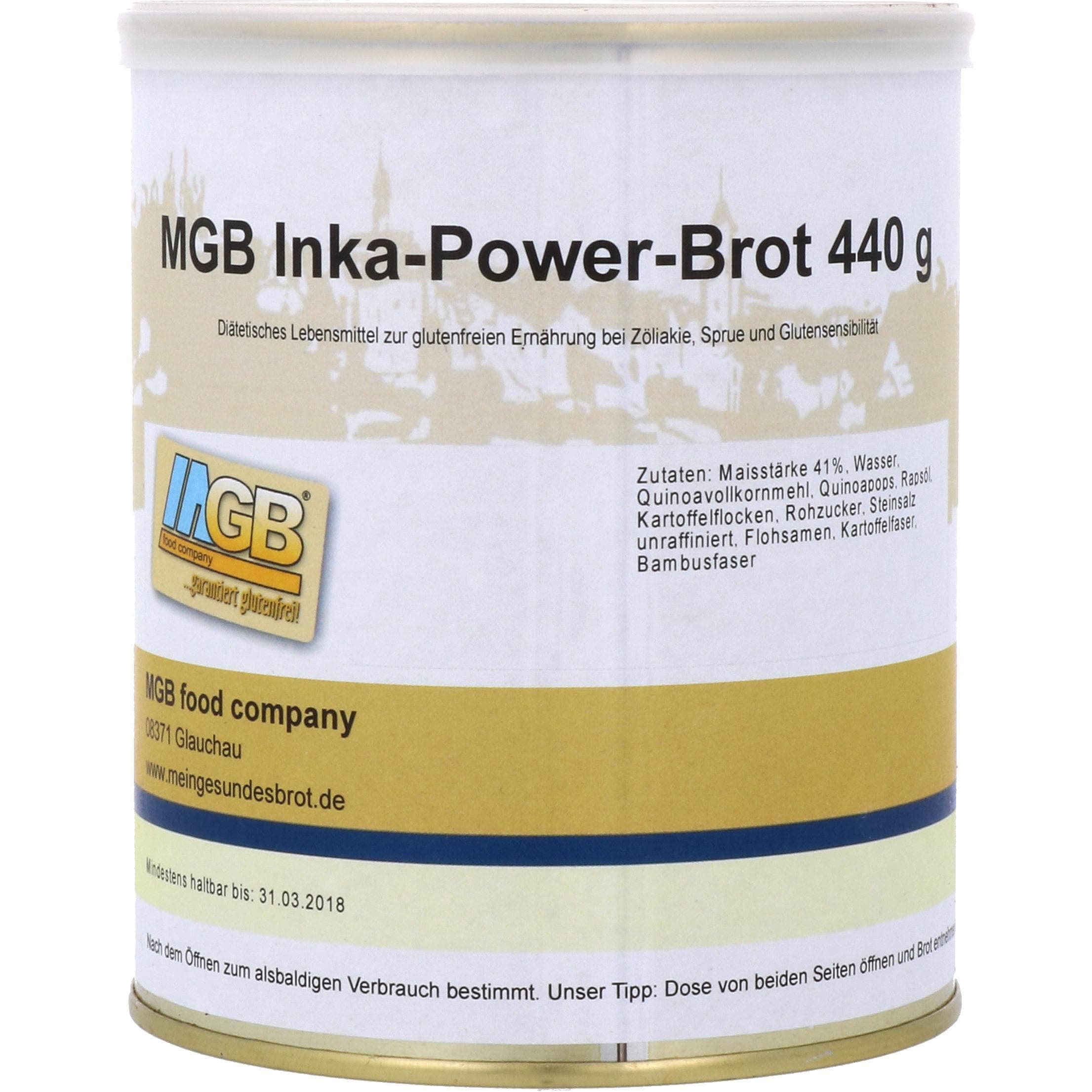 MGB food company Inka-Power-Brot, glutenfreies Brot 440g