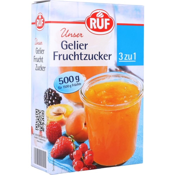 Ruf Gelier Fruchtzucker 3zu1 500g