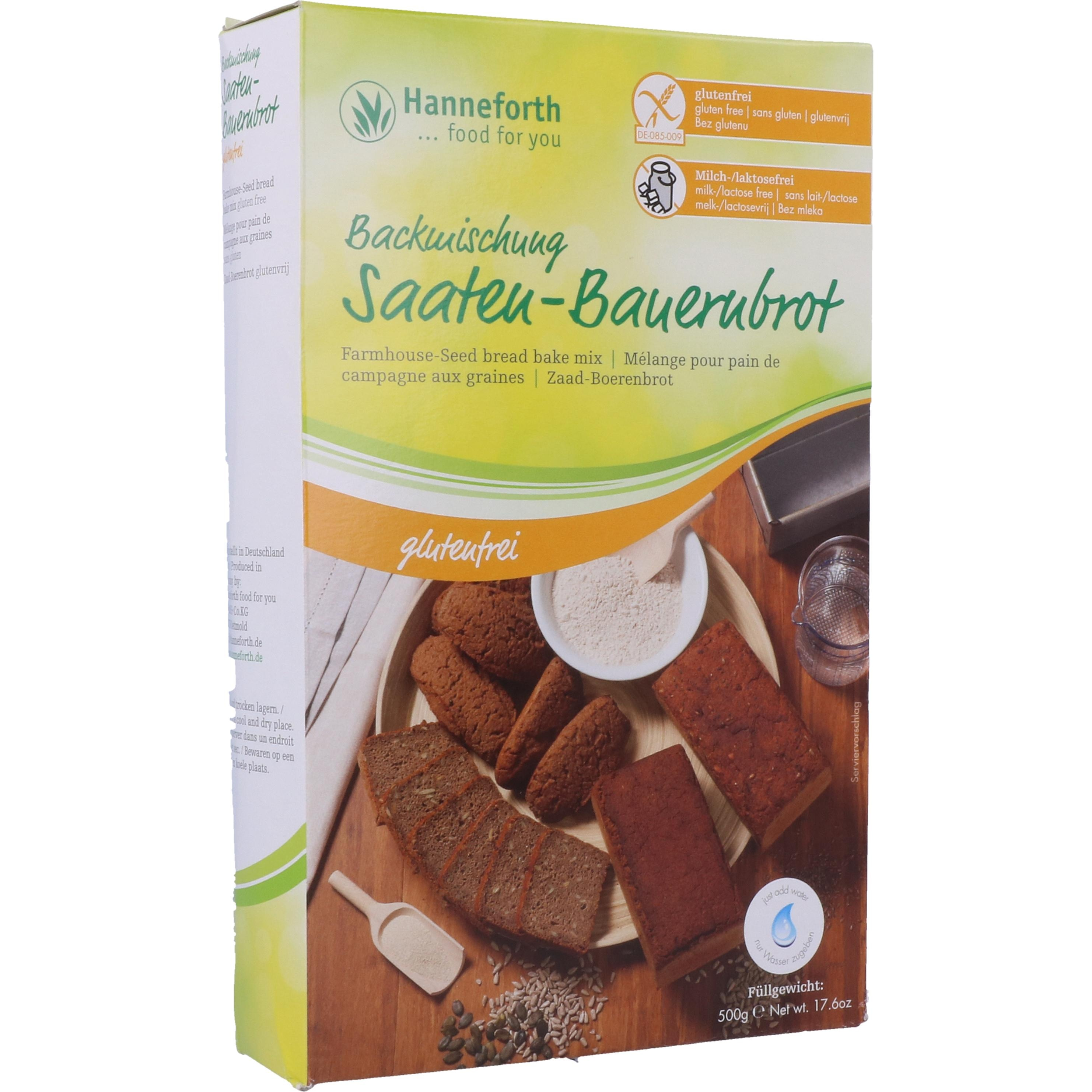 Hanneforth, food for you Backmischung für Saaten-Bauernbrot 500g