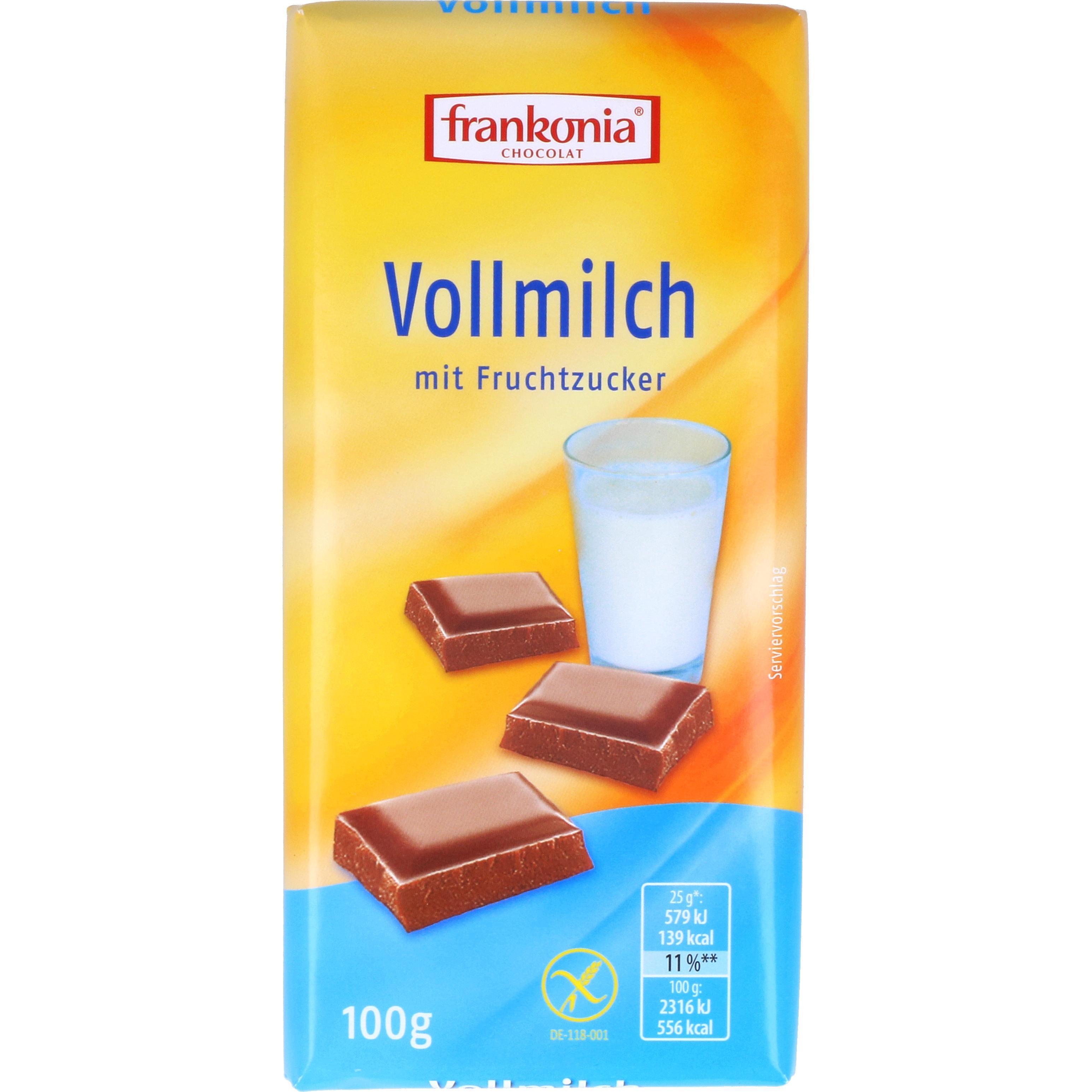 Frankonia Vollmilch Schokolade 100g
