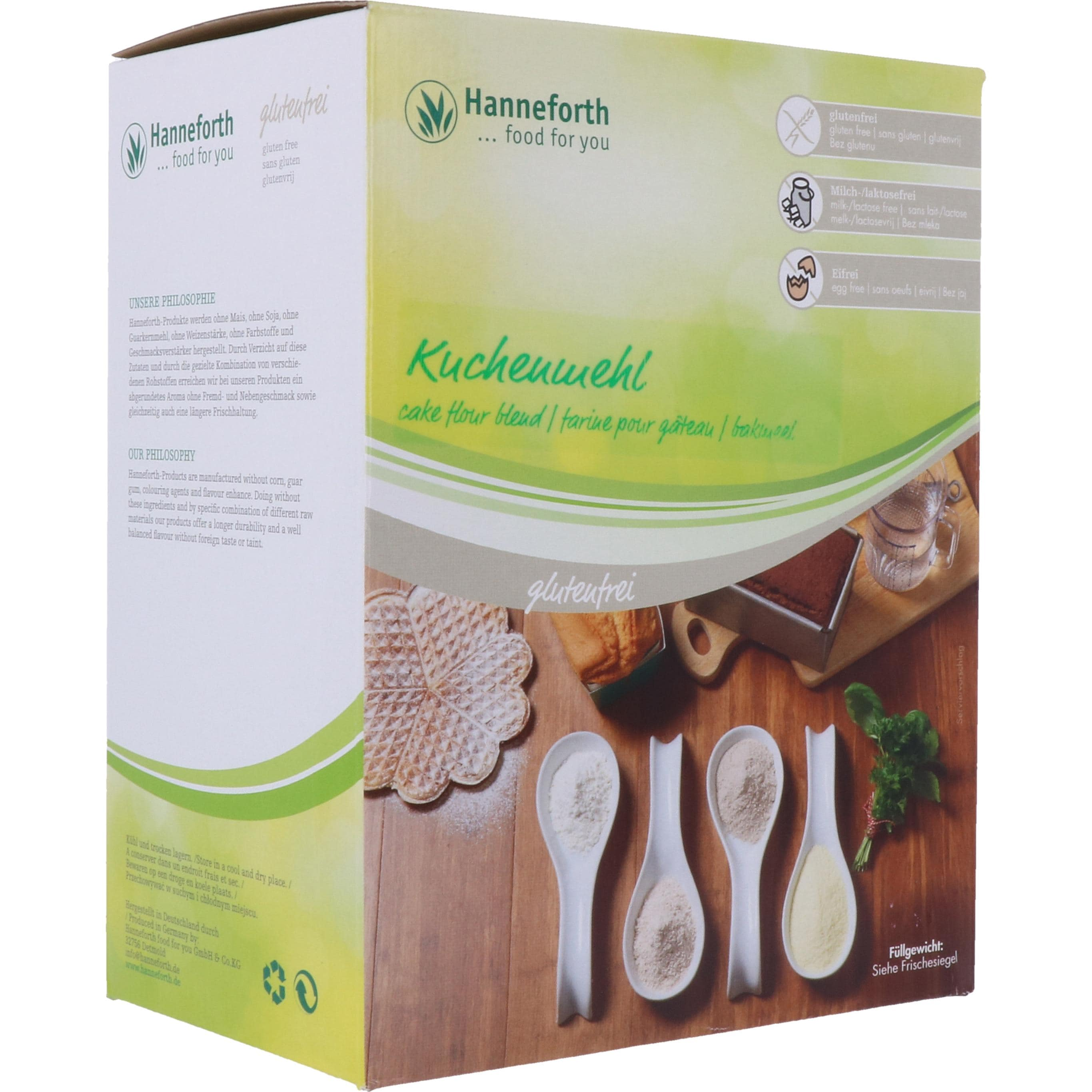 Hanneforth, food for you Kuchenmehl 1500g