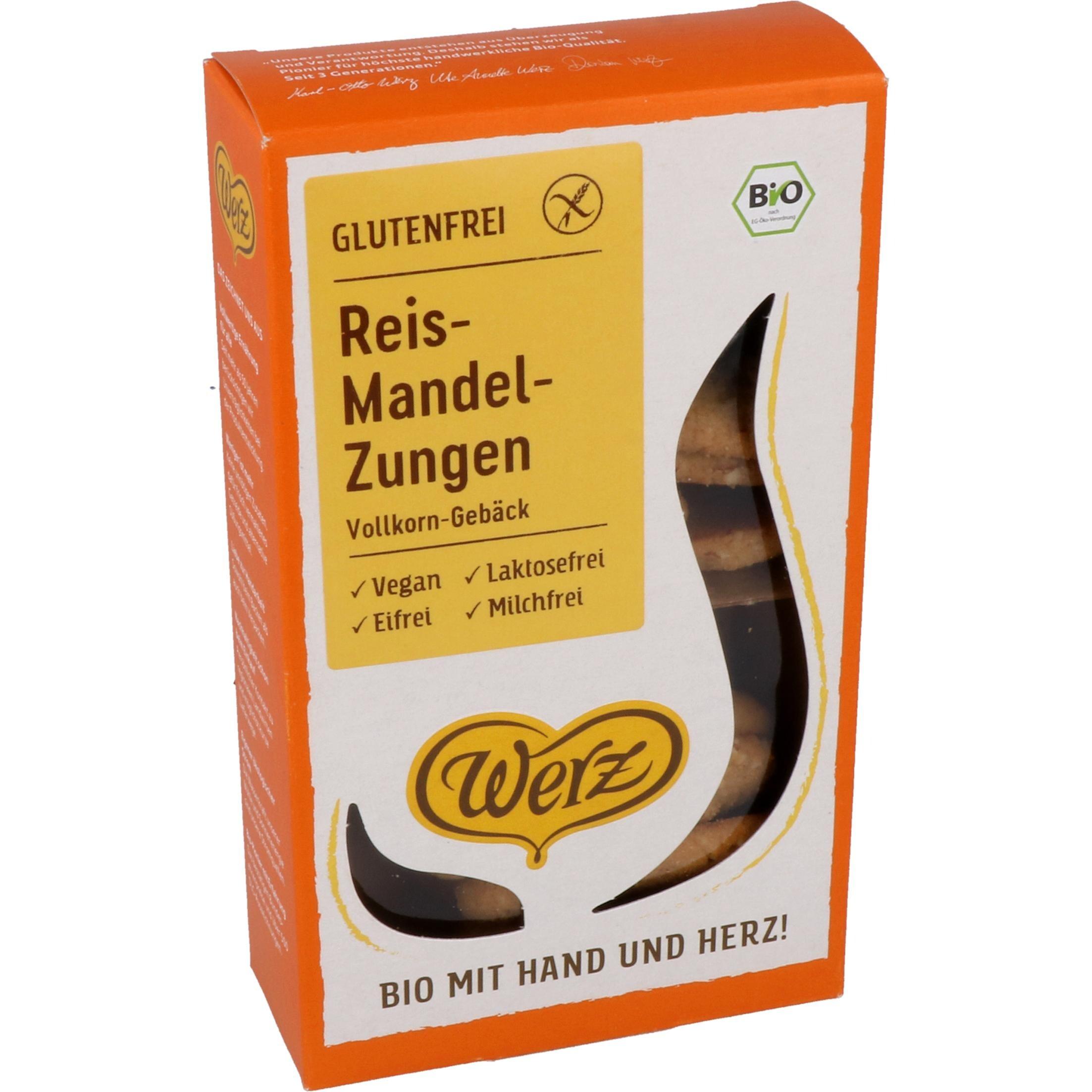 Werz Bio Reis-Mandel-Zungen 100g