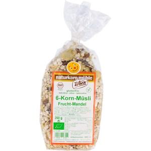 Werz Bio 6-Korn Müsli Frucht-Mandel 250g