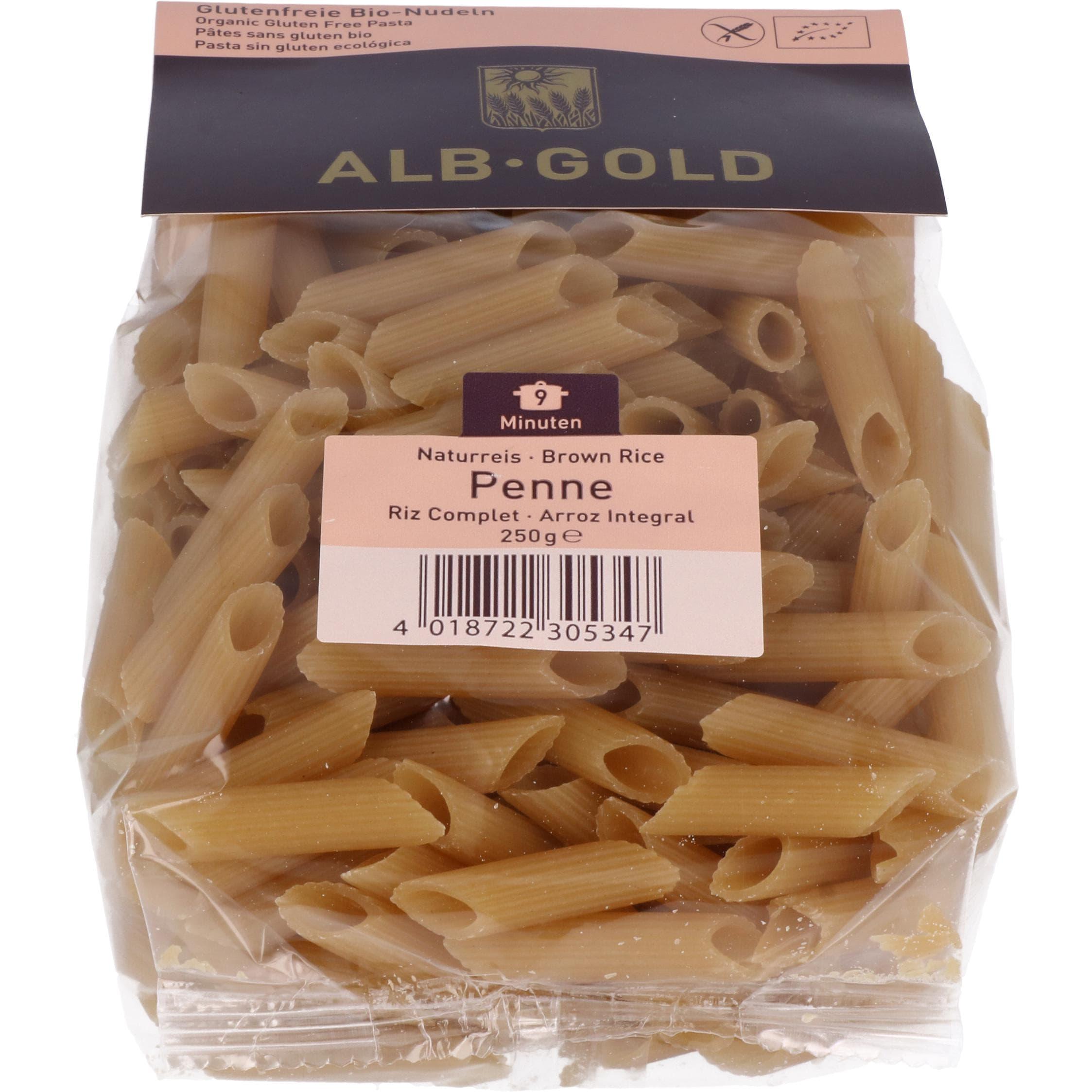 ALB-GOLD Bio Naturreis Penne 250g