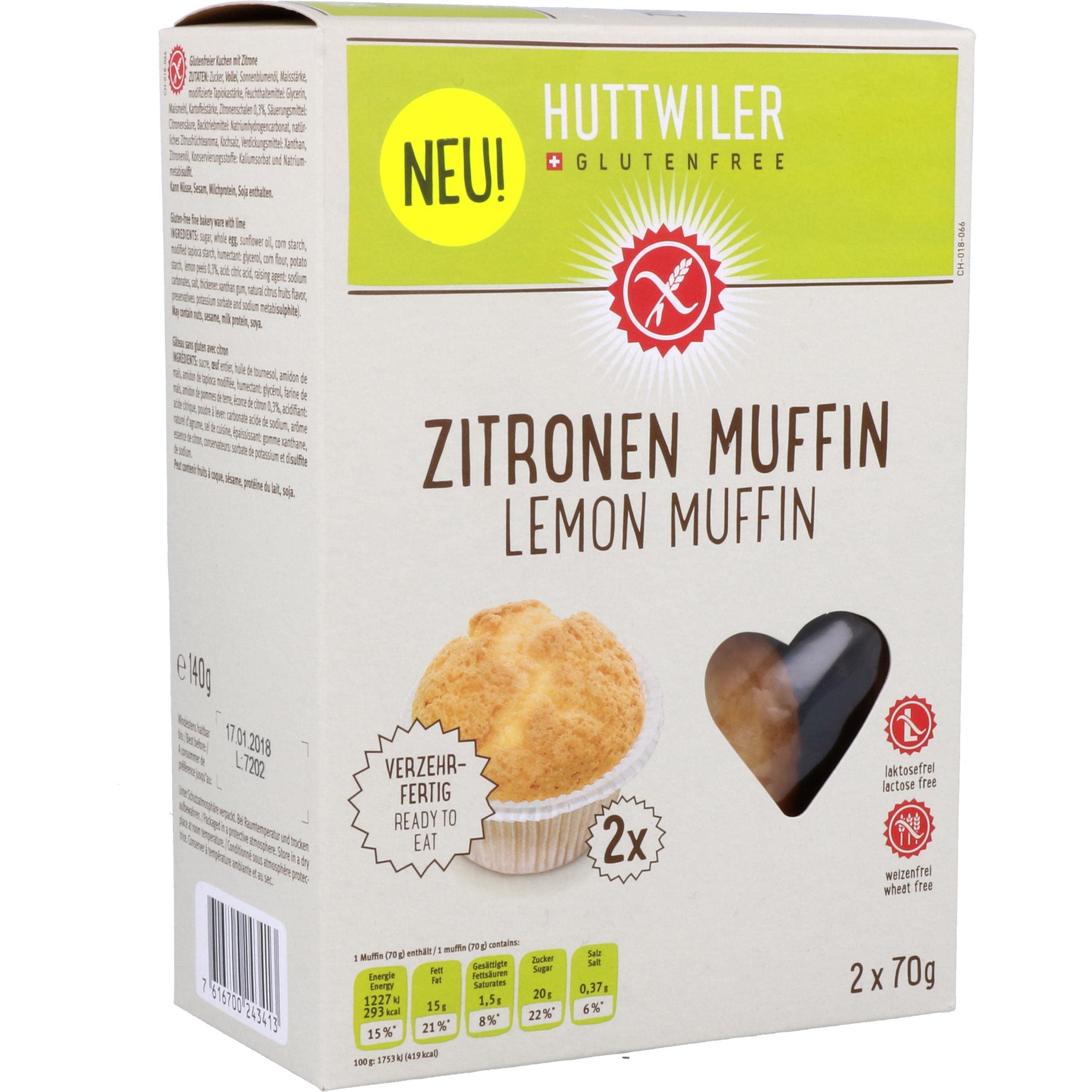 Huttwiler Zitronen Muffin 140g