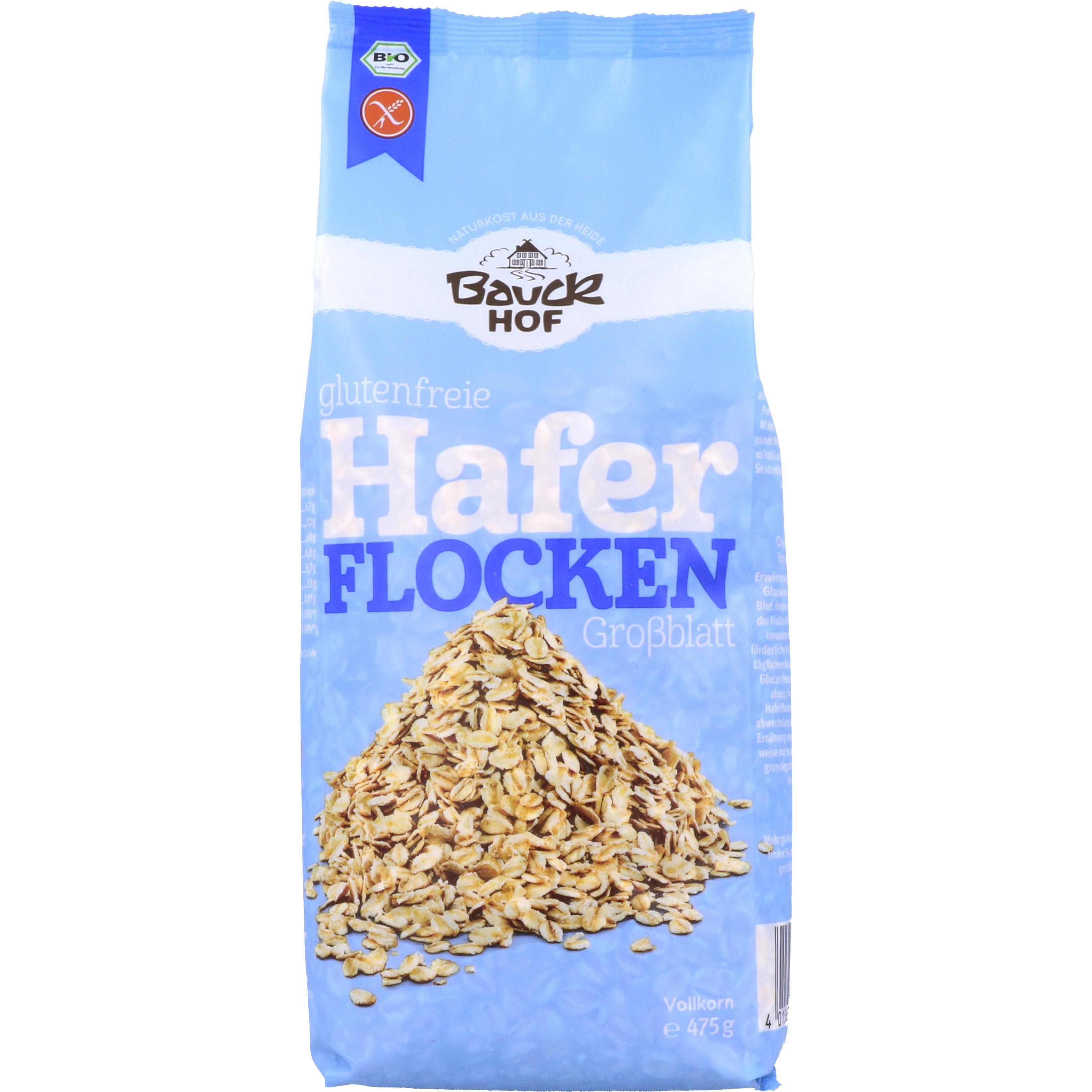 Bauckhof Glutenfreie Haferflocken Großblatt 475g