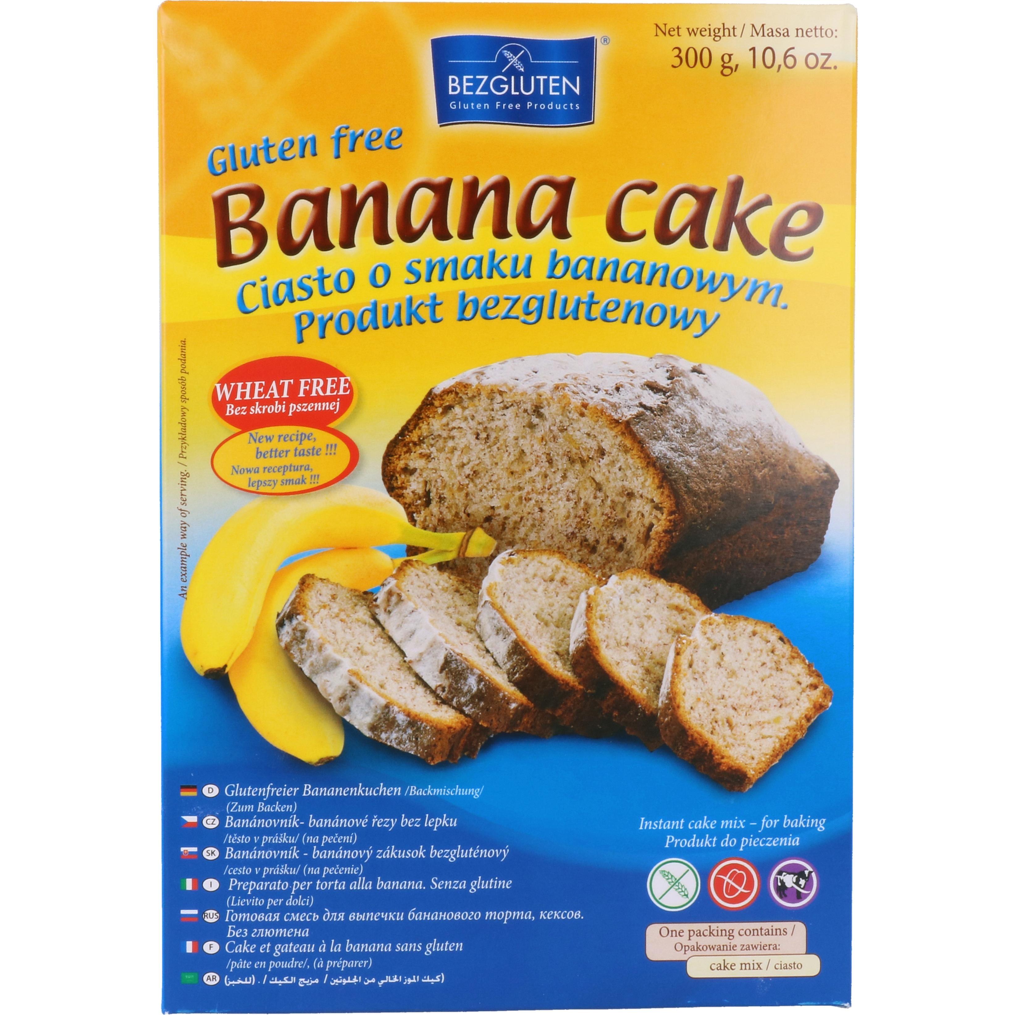 Bezgluten Glutenfreier Bananenkuchen Banana cake mix 300g