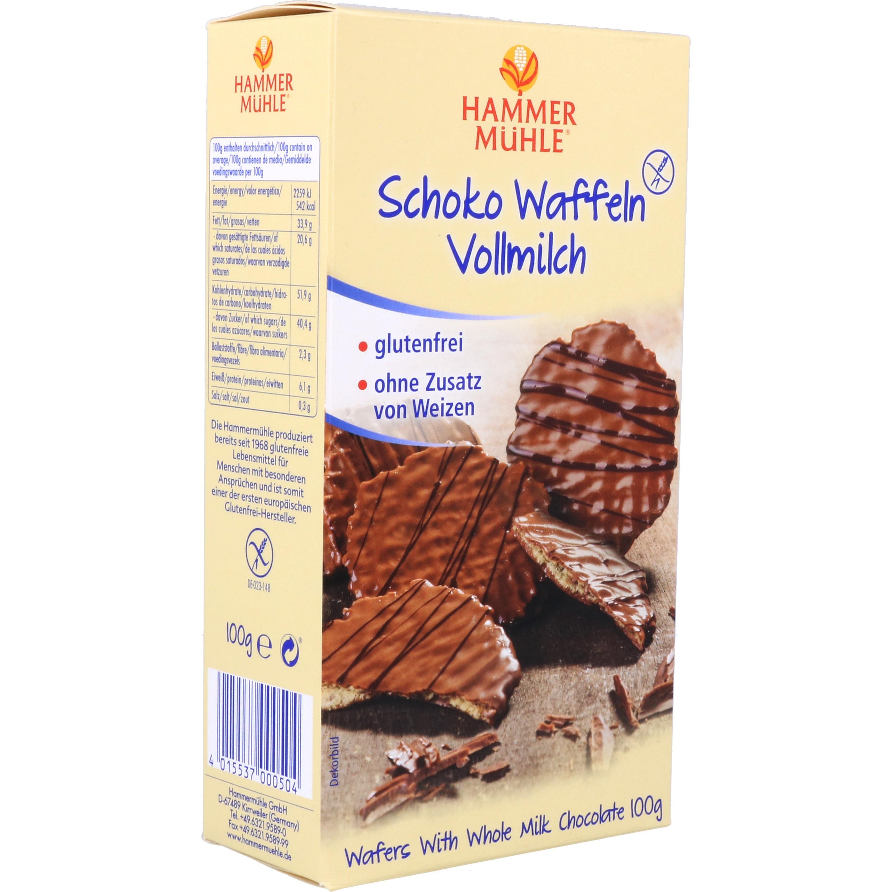 Hammermühle Schoko Waffeln Vollmilch 100g
