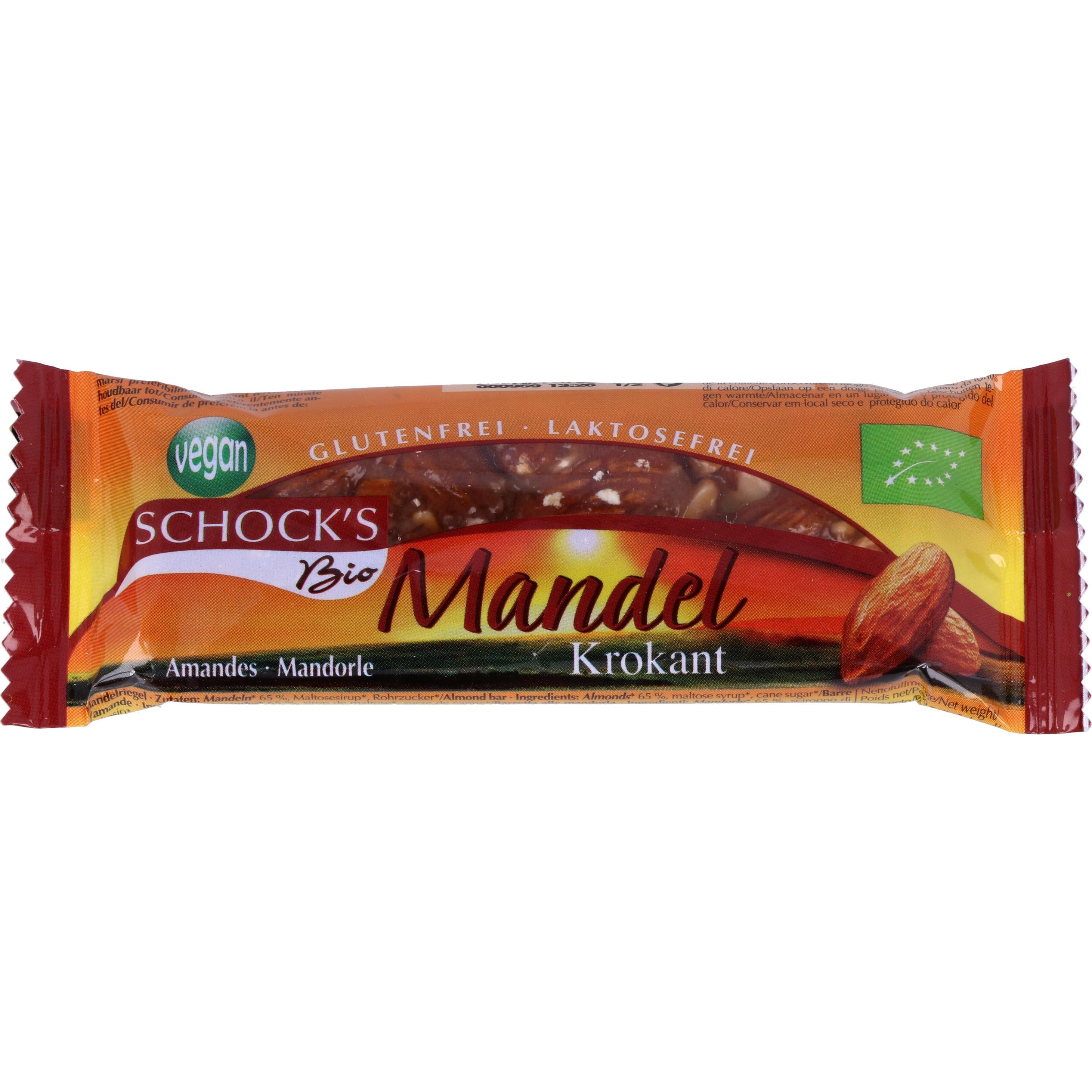 Schock Bio Mandel-Krokant-Riegel 25g