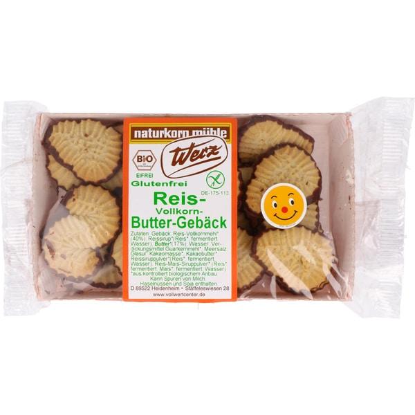 Werz Bio Reis Vollkorn Butter Gebäck 125g