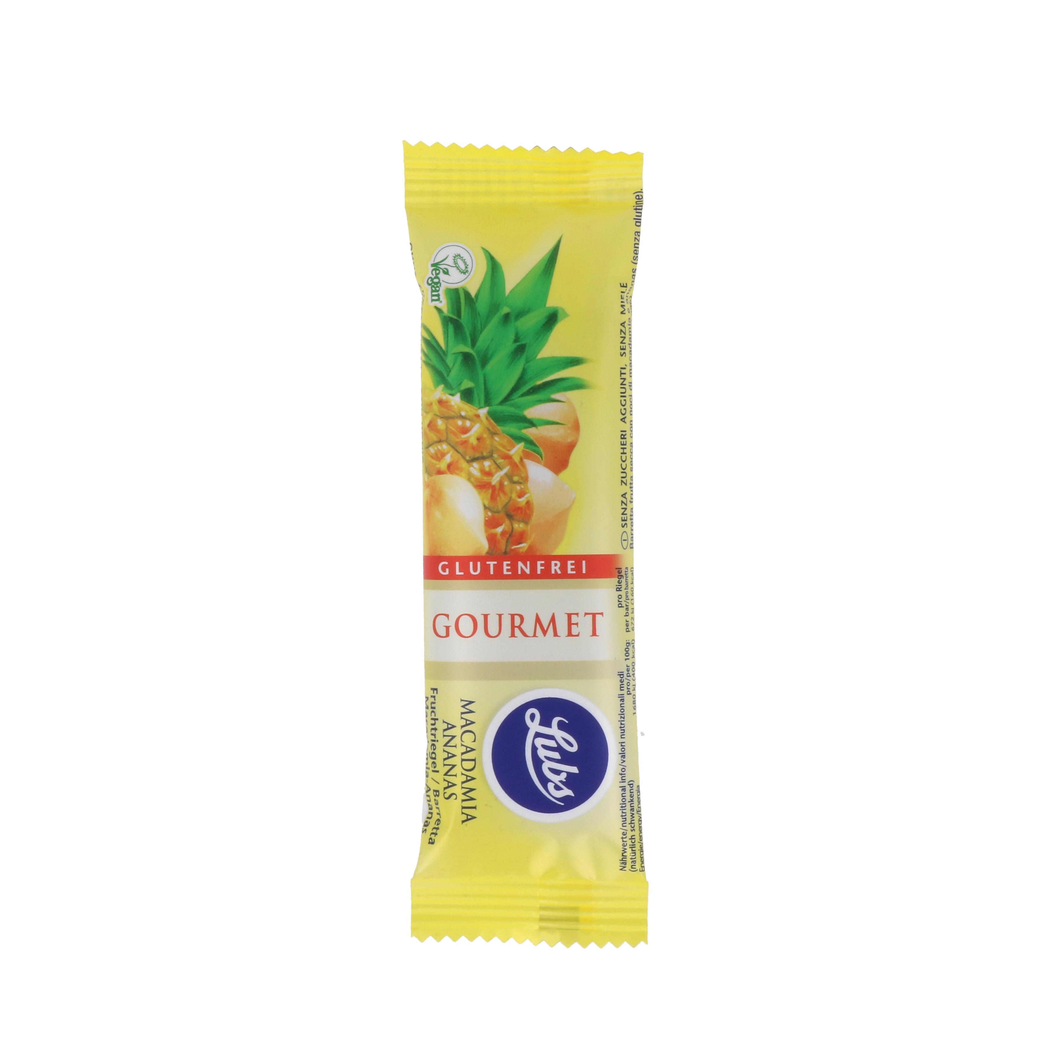 Lubs Bio Gourmet Macadamia-Ananas-Riegel 40g