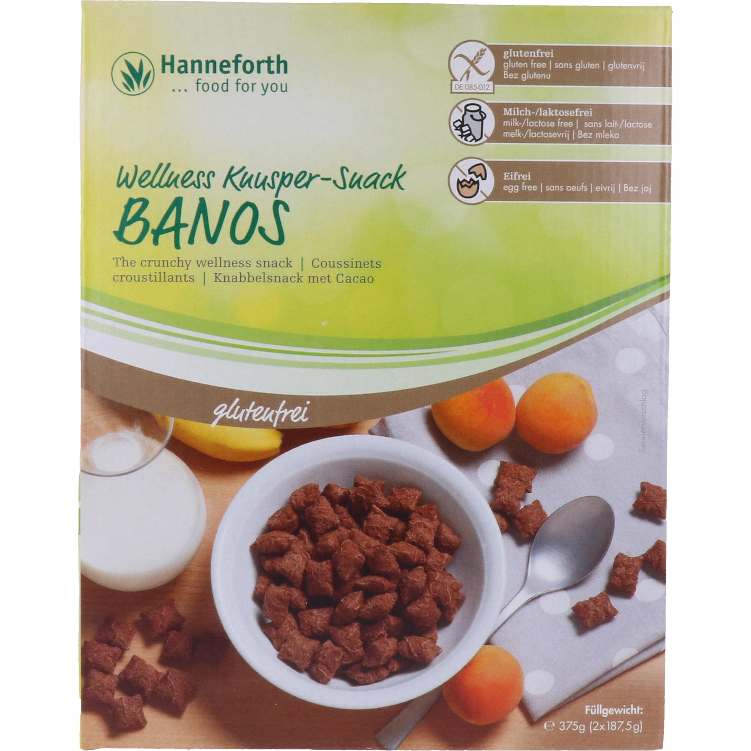 Hanneforth, food for you Banos Wellness-Knuspersnack 375g
