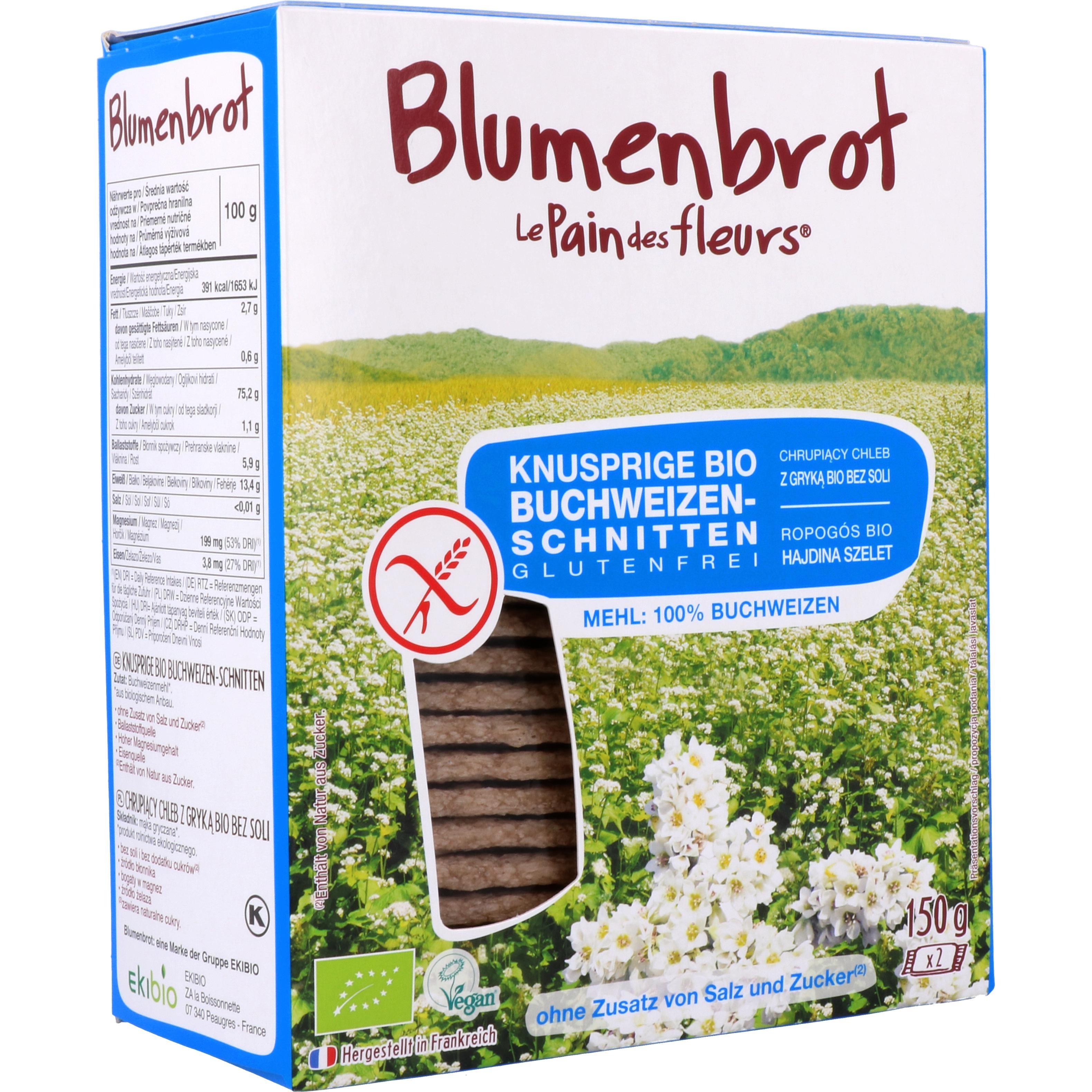 Primeal Bio Blumenbrot Buchweizen ohne Salz 150g