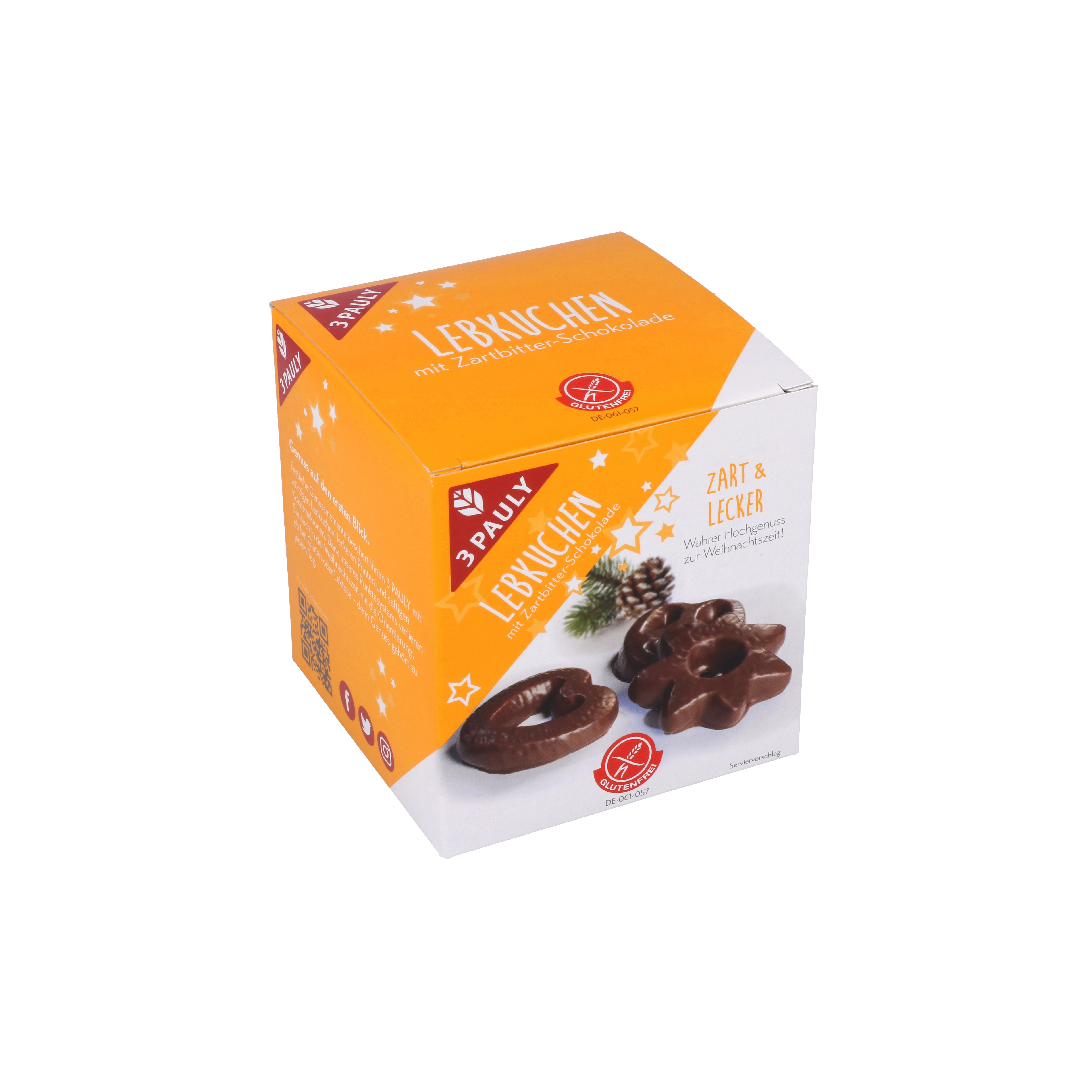3 Pauly Lebkuchen mit Zartbitter-Schokolade 165g