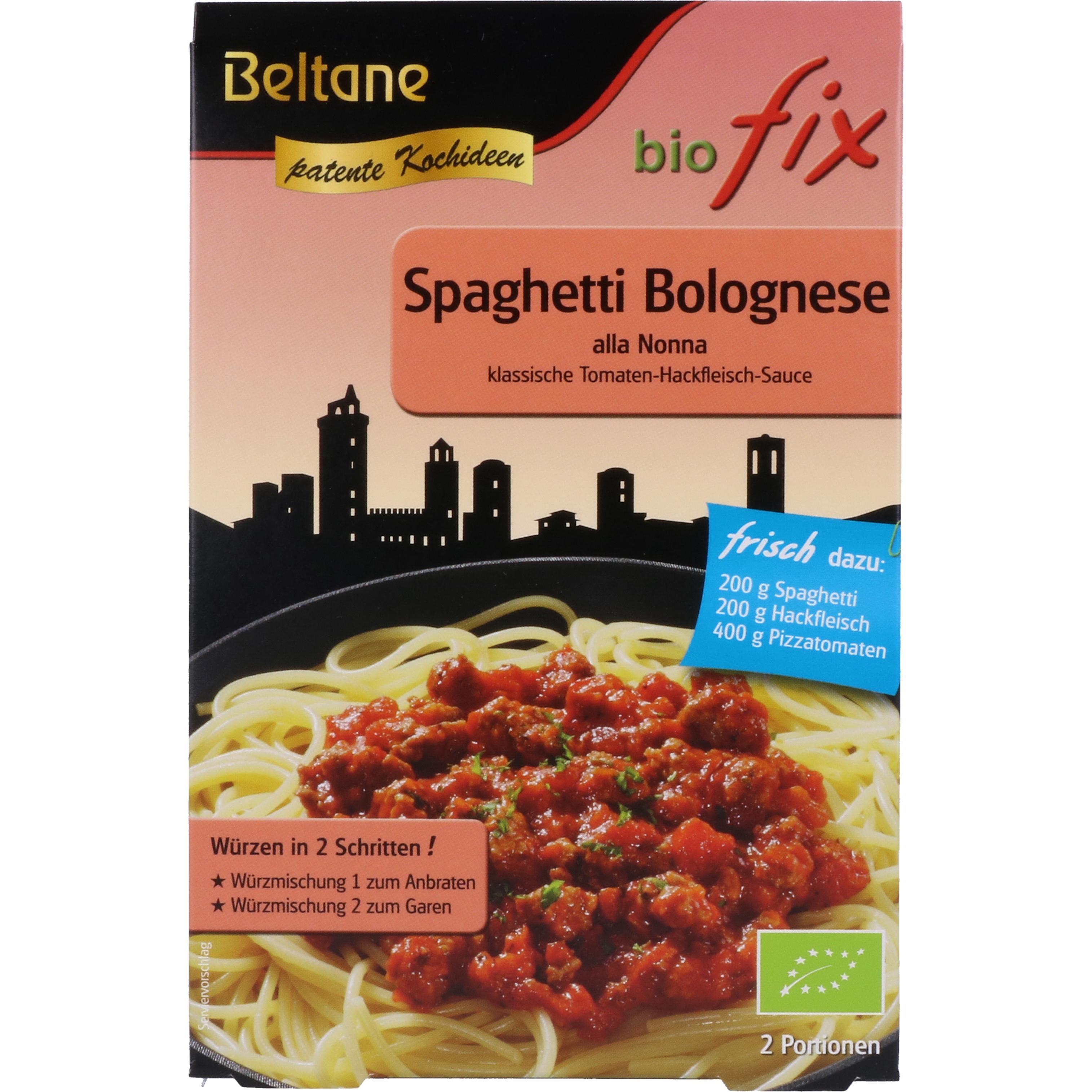 Beltane Bio Fix Spaghetti Bolognese 27g